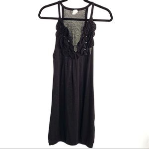 A/X Armani Exchange Black Knit Slip Dress